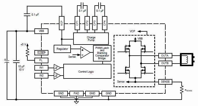 a3918 - 低电压直流电动机驱动器
